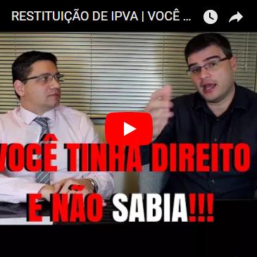 Restituição de IPVA   Você tem Direito!