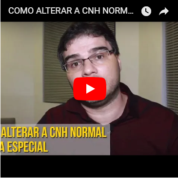 Como Alterar a CNH Normal para a Especial