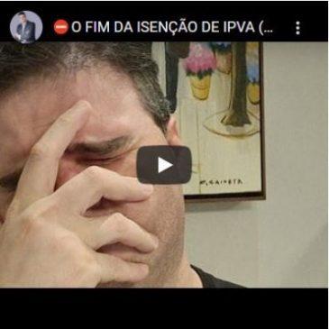 O Fim da Isenção de IPVA (Para Alguns)